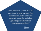 GALILEO: Help Patrons Find Information