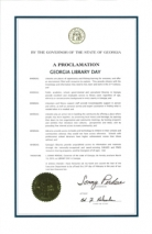 Governor Sonny Perdue Proclaims March 10, 2010 Library Day