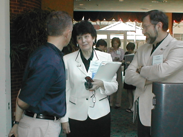 David, Toni, and Lamar Chat before the Conference