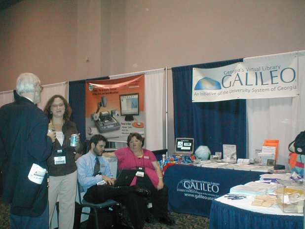 GALILEO Staff at the Booth