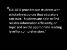 GALILEO for Scholarly Research and Professional Development