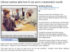 Article: Library System Asks How It Can Serve Community's Needs