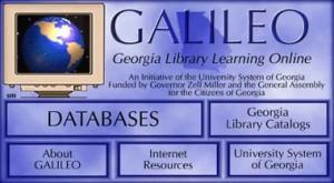 Screenshot of GALILEO from 1995-1999