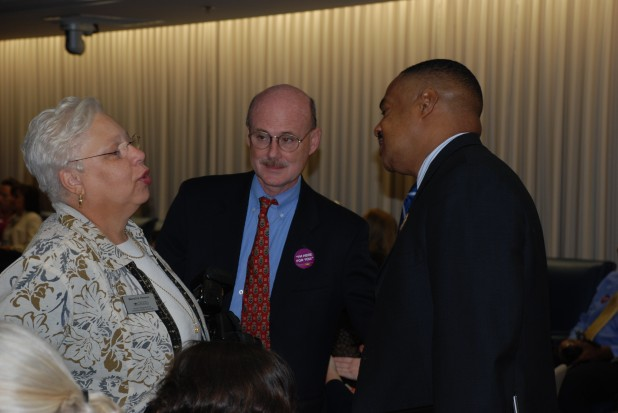 Merryll Penson Chats with Customer Services Award Ceremony Attendees