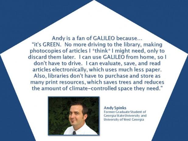 GALILEO is GREEN