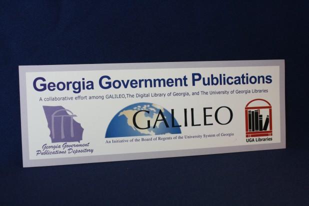 Georgia Government Publications Bookmark