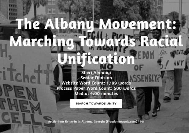 The Albany Movement: 2018 GALILEO Staff Prize for Best Project Using GALILEO Resources (Middle, High