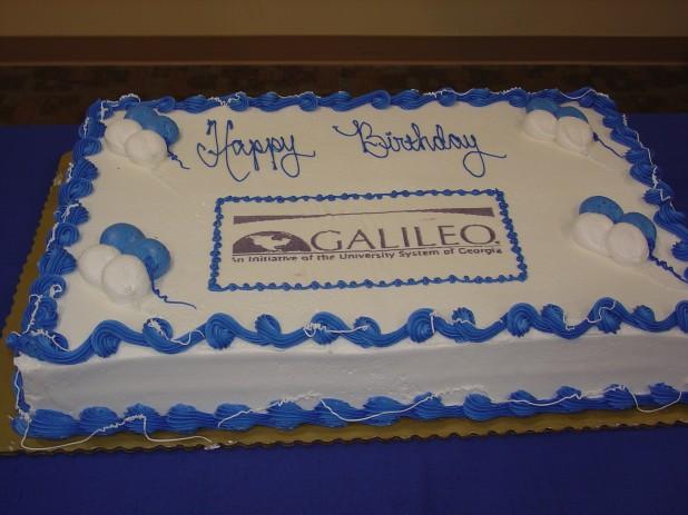GALILEO 10th Birthday Cake
