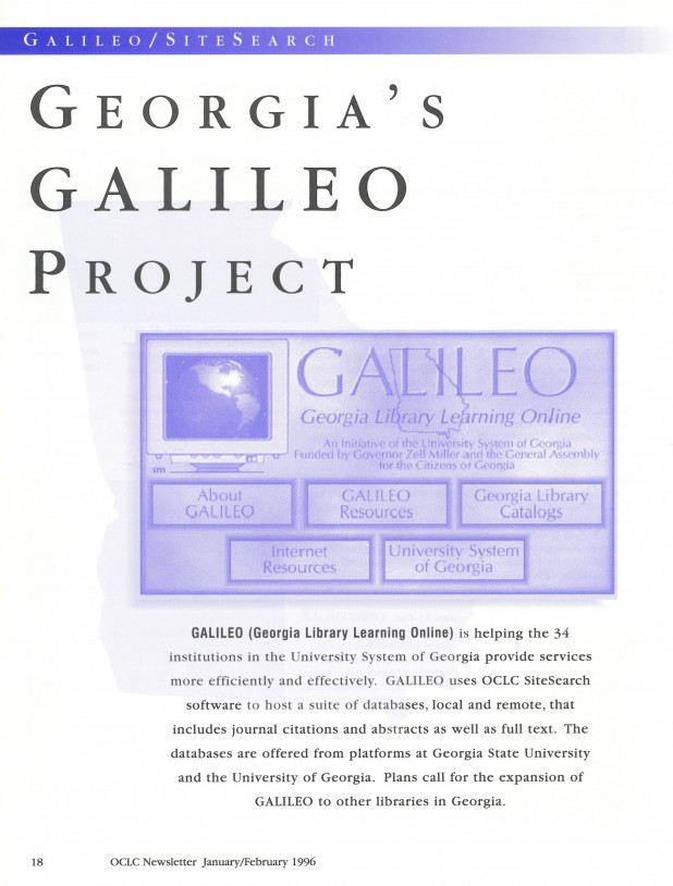 Article: Georgia's GALILEO Project
