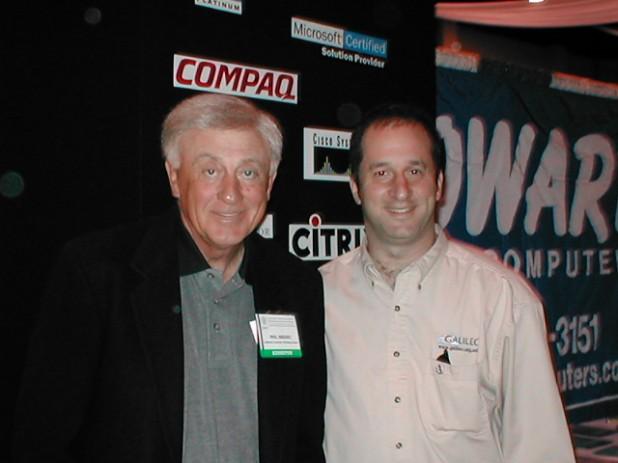 Rand with Phil Niekro