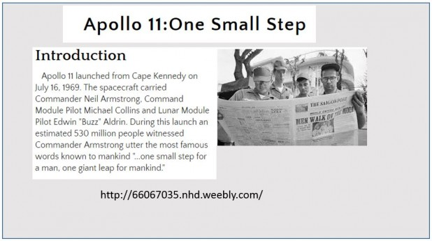 Apollo 11: One Small Step: 2016 GALILEO Staff Prize for Best Project Using GALILEO Resources