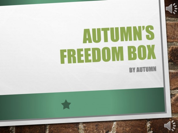 Autumn's Freedom Box: 2016 GALILEO Staff Prize for Best Project Using GALILEO Resources