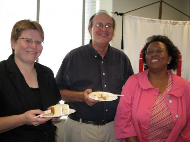 Laura, John, and Barbara Celebrate CRDL
