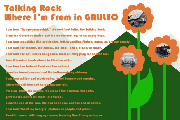 Where I'm From in GALILEO Poster Example