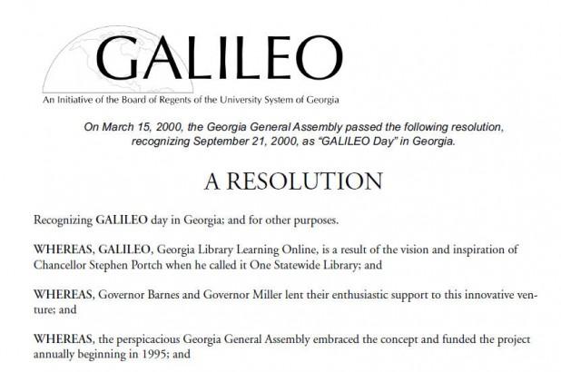 GALILEO Day Resolution