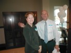 Karen Minton and David Singleton Ready for the Open House