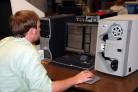 Donnie Scans Newspaper Microfilm