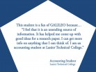 GALILEO: Unending Source of Information