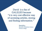 GALILEO is Cost Effective