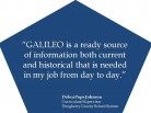 GALILEO: Ready Source of Current and Historical Information