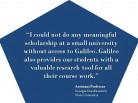 GALILEO Allows Meaningful Scholarship at Smaller Universities