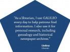 GALILEO: Help Patrons Find Information
