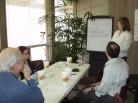 Lauren Leads Breakout Group Discussion
