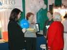 Chatting at the GALILEO Booth