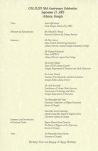Program for the GALILEO 10th Anniversary Celebration