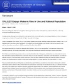 Article: GALILEO Enjoys Meteoric Rise in Use and National Reputation
