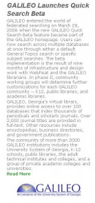 Article: GALILEO Launches Quick Search Beta